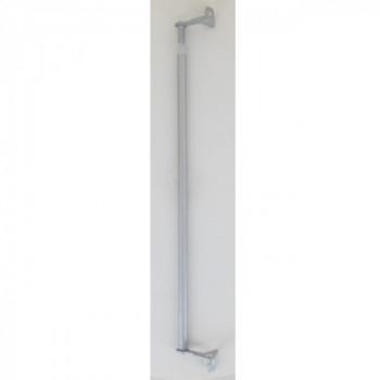 Tringle vitrage FIX'VIT blanc 50-80cm