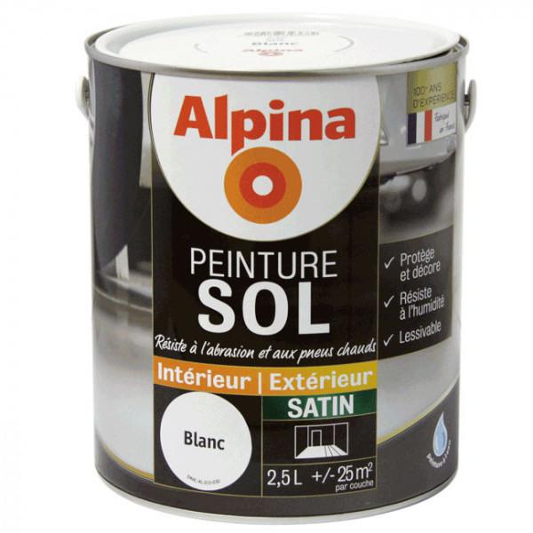Peinture alpina spéciale sol blanc...