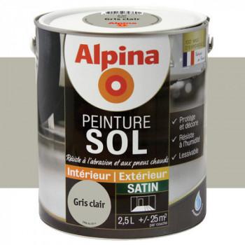 Peinture alpina spéciale sol gris clair satin 2,5L
