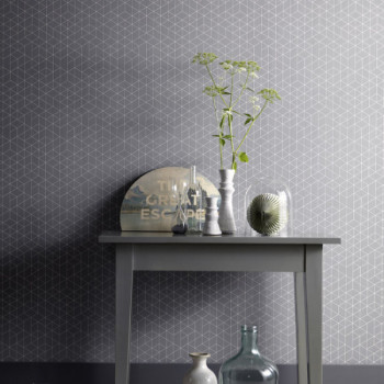 Papier peint intissé lessivable design gris