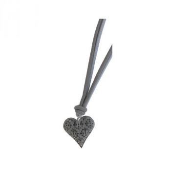 Embrasse métal cœur gris