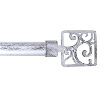 Kit tringle gris-noir 120-210cm