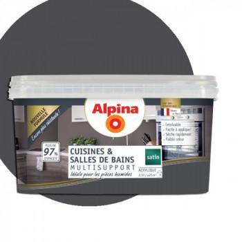 Peinture alpina cuisine & salle de bain granit satin  2,5L