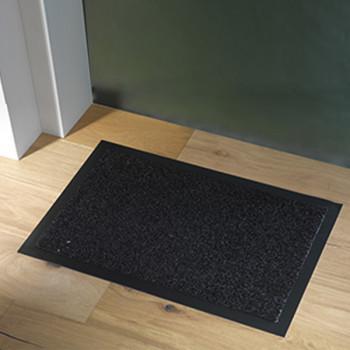 Tapis uni noir 90 x 150 cm