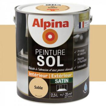 Peinture alpina spéciale sol sable satin 2,5L