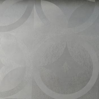 Toile cirée imprimé géométrique blanc 140 cm