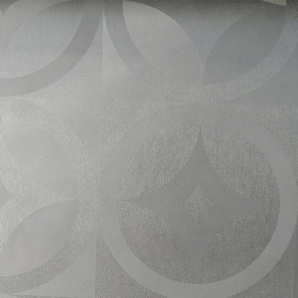 Toile cirée imprimé géométrique blanc...