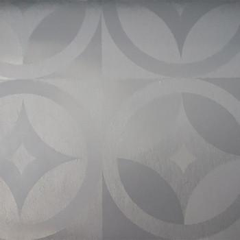 Toile cirée imprimé géométrique gris 140 cm