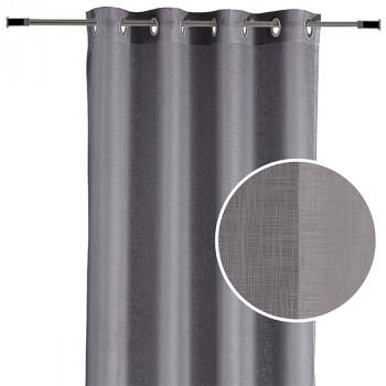 Rideau voile tissé uni gris 140 x 240 cm