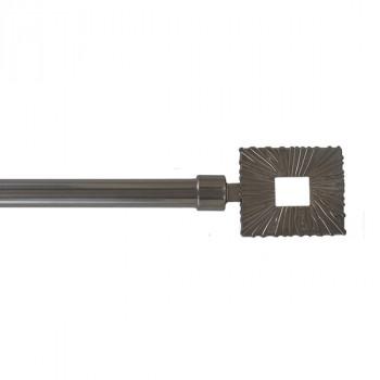 Kit tringle graphite embout carré extensible 120-210 cm
