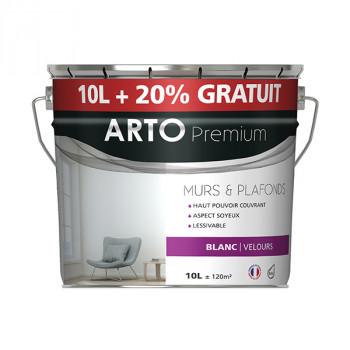 Peinture Arto Premium multi-supports blanc finition velours 12L