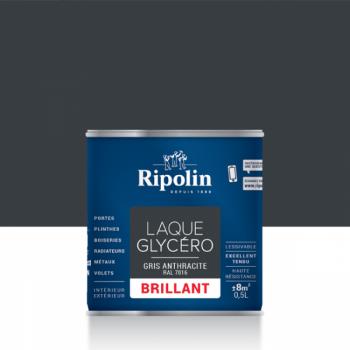 Laque glycéro ripolin multi-supports gris anthracite brillant 0,5L