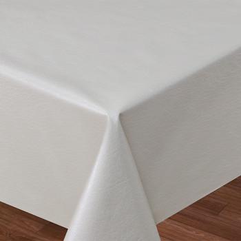 Toile cirée simili cuir uni beige 140 cm