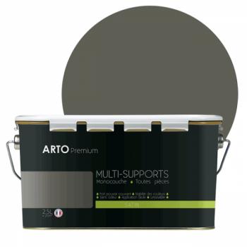 Peinture arto premium multi - supports murs, plafonds, boiseries, plinthes et radiateurs gris souris  satin 2,5 L