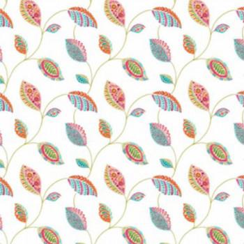 Toile cirée imprimé feuille multicolor 140 cm