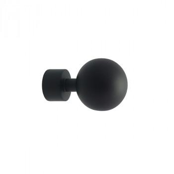 Lot de 2 embouts Zen boule noir mat Ø20