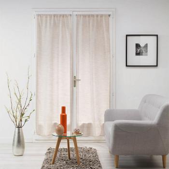 Paire vitrage MILZA voile tissé droit beige 70 x 200 cm
