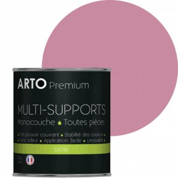 Peinture arto premium multi-supports murs, plafonds, boiseries, plinthes et radiateurs barbe à papa satin 0,5 L