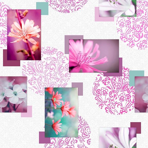 Toile cirée photoprint rose fushia...