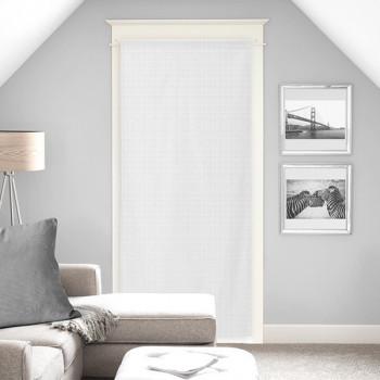 Vitrage voile tissé blanc 90 x 200 cm