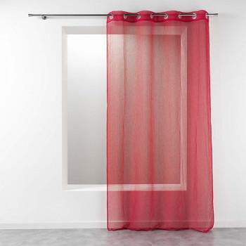 Rideau étamine uni rouge 140 x 240