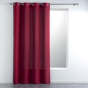Rideau tissu effet chiné rouge 140 x 260
