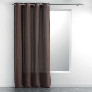 Rideau tissu effet chiné marron 140 x 260