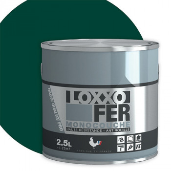 Peinture monocouche LOXXO spéciale fer vert basque brillant 2.5L