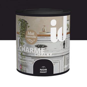Peinture Id Déco multi-support charme romantique noir mat 0,5 L