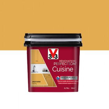 Peinture V33 rénovation cuisine espelette satin 750 ML