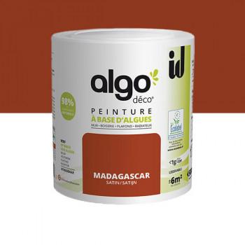 Peinture Algo multi-supports Murs, plafonds et boiseries Madagascar satin 0,5L