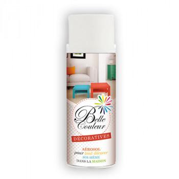 Peinture Belle couleur spray aérosol multi-supports blanc satin 400 ML