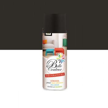 Peinture Belle couleur spray aérosol multi-supports noir mat 400 ML