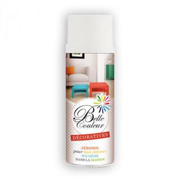 Peinture Belle couleur spray aérosol multi-supports blanc mat 400 ML