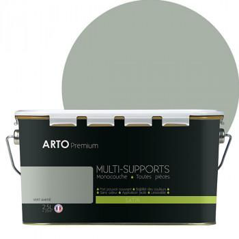Peinture arto premium multi-supports murs, plafonds, boiseries, plinthes et radiateurs vert satin 2,5 L