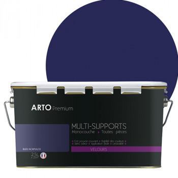 Peinture arto premium multi-supports murs, plafonds, boiseries, plinthes et radiateurs bleu velours 2,5 L