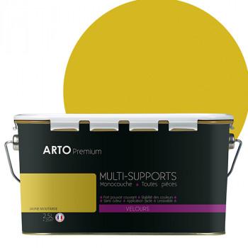 Peinture arto premium multi-supports murs, plafonds, boiseries, plinthes et radiateurs jaune velours 2,5 L
