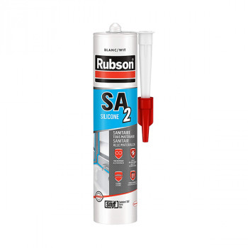 Cartouche silicone RUBSON sanitaire blanc