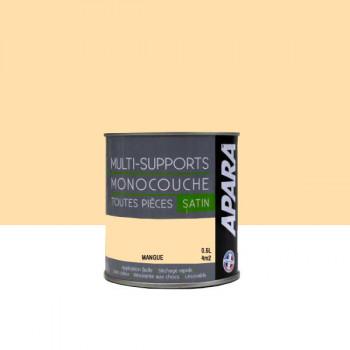 Peinture Apara multi-supports Murs, plafonds, boiseries, plinthes... mangue satin 0,5L