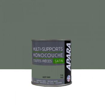 Peinture Apara multi-supports Murs, plafonds, boiseries, plinthes... vert kaki satin 0,5L