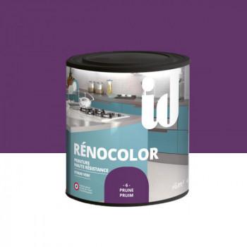 Peinture Id Déco multi-support rénocolor haute résistance prune brillant 0,5L