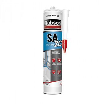 Cartouche silicone RUBSON sanitaire gris foncé