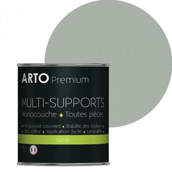 Peinture arto premium multi-supports murs, plafonds, boiseries, plinthes et radiateurs vert satin 0,5 L