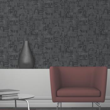 Papier peint intissé gris foncé seventies