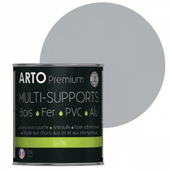 Peinture Arto Premium multi-supports gris satin 0,5L