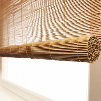 Store enrouleur bambou caramel 80 x 180 cm