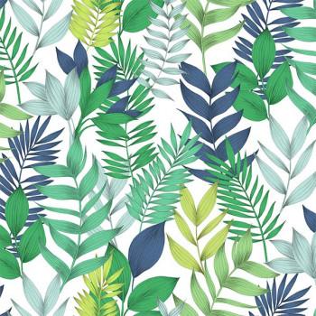 Toile cirée imprimé feuillage vert 140 cm