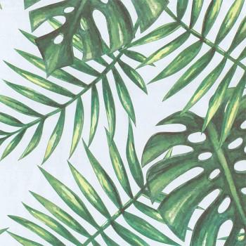 Rouleau adhésif vert tropical 45 cm