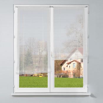 Vitrage remontable blanc 80 x 210 cm
