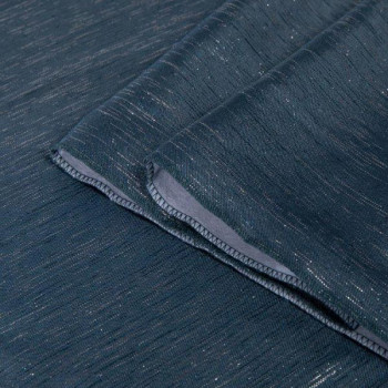 Rideau tissu pailleté bleu